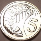 Rare Proof Cayman Islands 1975 5 Cents~Prawn~Only 7,175 Minted~Free Shipping