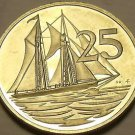 Rare Proof Cayman Islands 1979 25 Cents~Schooner~Only 4,247 Minted~Free Ship