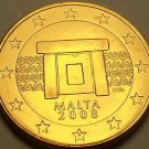 Gem Unc Malta 2008 5 Euro Cents~Doorway~Excellent~Free Shipping