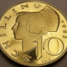 Proof Austria 1983 10 Schilling~65,000 Minted~Woman Of Wachau~Free Shipping