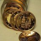 Gem Unc Roll (40) Spain 2003 1 Euro Cents~Cathedral of Santiago de Compostela~FS