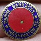 Lot of 5 Marine Corps Barracks Washington D.C. Enameled Brass Medallions~Free Sh