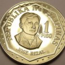Rare Proof Philippines 1978 Piso~Only 4,792 Minted~Jose Rizal~Free Shipping
