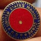 Lot of 5 United States Marine Corps Enameled Brass Medallions~Free Shipping