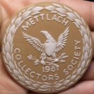Massive 63mm Ceramic~Mettlach Villeroy & Boch Germany 1981 Medallion~Free Ship