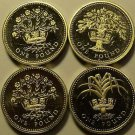 Lot Of 4 Impaired Proof Great Britain Pounds~1983-92~Free Shipping