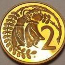 Rare Proof New Zealand 1971 2 Cents~5,000 Minted~Kowhai Leaves~Free Shipping