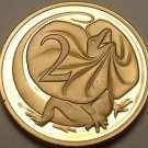Rare Proof Australia 1975 2 Cents~23,000 Minted~Frilled Neck Lizard~Free Ship