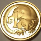 Rare Proof Australia 1975 Cent~Echidna~23,000 Minted~Feather-Tailed Glider~Fr/Sh