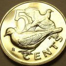 Rare Unc British Virgin Islands 1976-U 5 Cents~Doves~Only 996 Minted~Free Ship