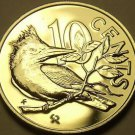 Rare Unc British Virgin Islands 1975-U 10 Cents~Kingfisher~Only 2,351 Minted~F/S