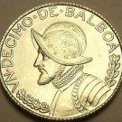 Gem Unc Silver Panama 1962 1/10th Balboa~Fantastic~Free Shipping
