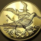 Rare Unc British Virgin Islands 1976-U Dollar~Frigate~Only 996 Minted~Free Ship