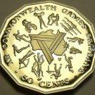 Cameo Proof Australia 1982 50 Cents~Commonwealth Games~100,000 Minted~Free Ship