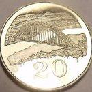 Rare Proof Zimbabwe 1980 20 Cents~Birchenough Bridge~15,000 Minted~Free Shipping