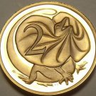 Cameo Proof Australia 1982 2 Cents~Frilled-Neck Lizard~100,000 Minted~Free Ship