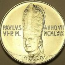 Rare Vatican 1969 F.A.O. 50 Lire~190,000 Minted~Angel In Flight~Free Shipping
