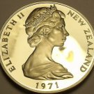 Rare Proof New Zealand 1971 10 Cents~Only 5,000 Minted~Maori Mask~Free Shipping