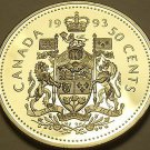 Cameo Proof Canada 1993 50 Cents~Excellent~143,065 Minted~Free Shipping