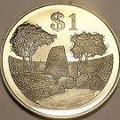 Rare Proof Zimbabwe 1980 Dollar~The Zimbabwe Ruins~15,000 Minted~Free Shipping