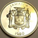 Rare Proof Jamaica 1980 25 Cents~Streamer Tailed Hummingbird~2,688 Minted~Fr/Sh