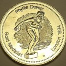 Large Gem Unc Phyllis Dewar Gold Medalist Medallion~Excellent~Free Shipping