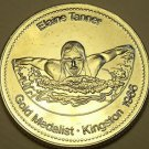 Large Gem Unc Elaine Tanner Gold Medalist Medallion~Mighty Mouse~Free Shipping