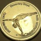 Large Gem Unc Beverley Boys~Gold Medalist Medallion~Excellent~Free Shipping