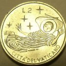 Rare Vatican 1969 F.A.O. 2 Lire~100,000 Minted~Angel In Flight~Free Shipping