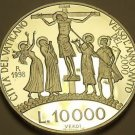 Rare Silver Proof Vatican 1998 10,000 Lire~Jesus On The Cross~30,000 Minted~