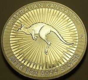 Gem Unc Silver Australia 2016-P Dollar~Kangaroo~Free Shipping
