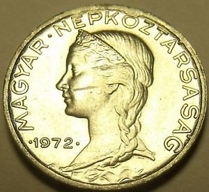 Gem Unc Hungary 1972 5 Filler~Only 50,000 Minted~Free Shipping