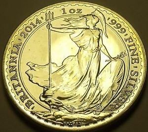 Gem Unc Silver Great Britain 2014 2 Pounds~Britannia~Excellent~Free Shipping