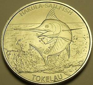 Gem Unc Silver Tokelau 2016 $5.00~Sailfish~Fantastic~Free Shpping