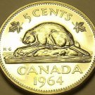 Proof Canada 1964 Beaver Nickel~Collect The Best~Free Shipping