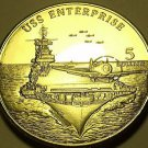 Gem Unc Marshall Islands 1998 $5.00~Aircraft Carrier USS Enterprise~Awesome~Fr/S