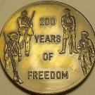 Huge 38.5mm Gem Unc 1976 Bronze Medallion~200 Years Of Freedom~Free Shipping
