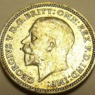 Unc Silver Great Britain 1932 3-Pence~Now Over 80 Years Old~Free Shipping