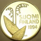 Rare Proof Finland 1994 10 Penni~Flower Pods~Stems~Honeycombs~5,000 Minted~Fr/Sh