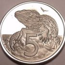 Rare Proof New Zealand 1981 5 Cents~Tuatara~Only 18,000 Minted~Free Ship