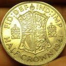 Silver Great Britain 1941 Half Crown~King George VI~Quartered Shield~Free Ship