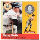 Rare .999 Silver Proof Mickey Mantle 500 Club Cooperstown Commemorative~Free Shi