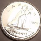 Proof Canada 1974 10 Cents~Bluenose Sailing~213,589 Minted~Free Shipping