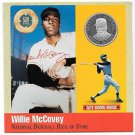 Rare .999 Silver Proof Willie McCovey 500 Club Cooperstown Commemorative~Free Sh
