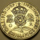 Silver Great Britain 1938 2 Shillings~Crowned Tudor Rose~Shamrock~Free Shipping