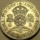 Silver Great Britain 1939 2 Shillings~Crowned Tudor Rose~Shamrock~Free Shipping