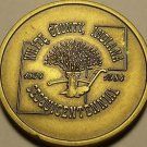 Large 37.5 mm Solid Brass White County Indiana Sesquincentennial Medallion~Fr/Sh