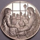 Solid Bronze Proof Franklin Mint Medallion~Christmas Carolers~Incredible~Free Sh