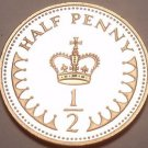 Cameo Proof Great Britain 1984 Half Penny~107,000 Minted~Fantastic~Free Shipping