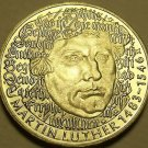 Proof Germany 1983-G 5 Mark~500th Anniversary Of Martin Luther~350k Minted~Fr/S